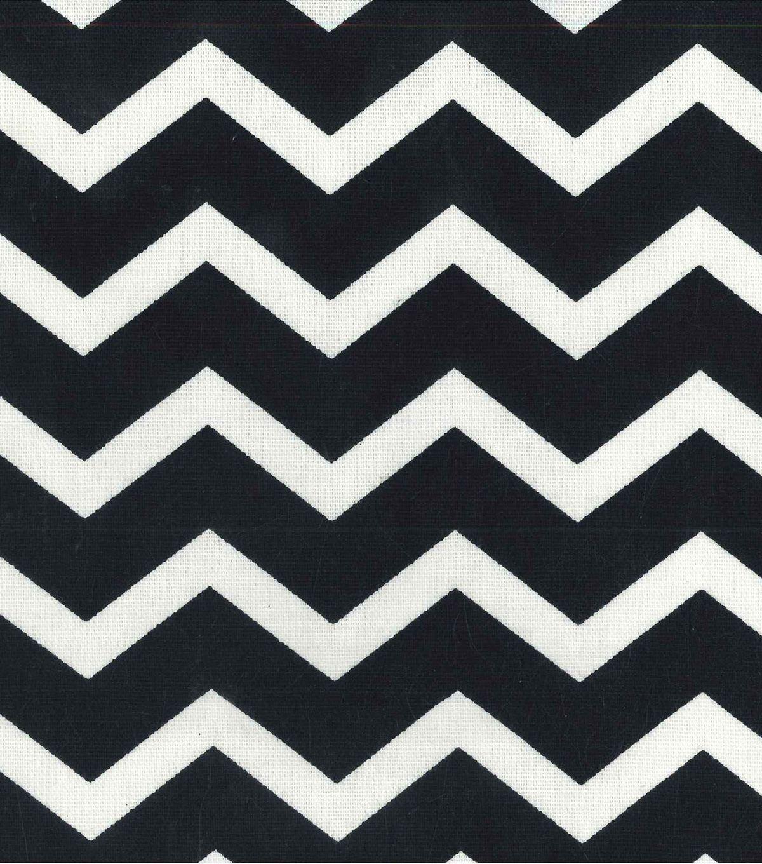 Home Essentials 45'' Print Fabric Chevron Black, , hi-res