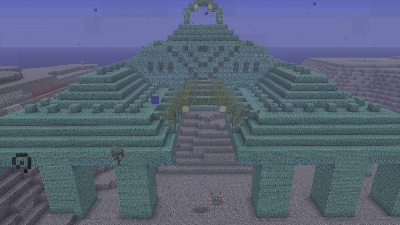 Minecraft 1 8 Ocean Monument With Images Minecraft 1