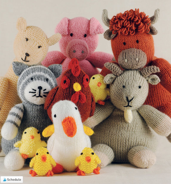 Knitted Farm Animals 15 Toy Animal Knitting Patterns By Sarah Keen