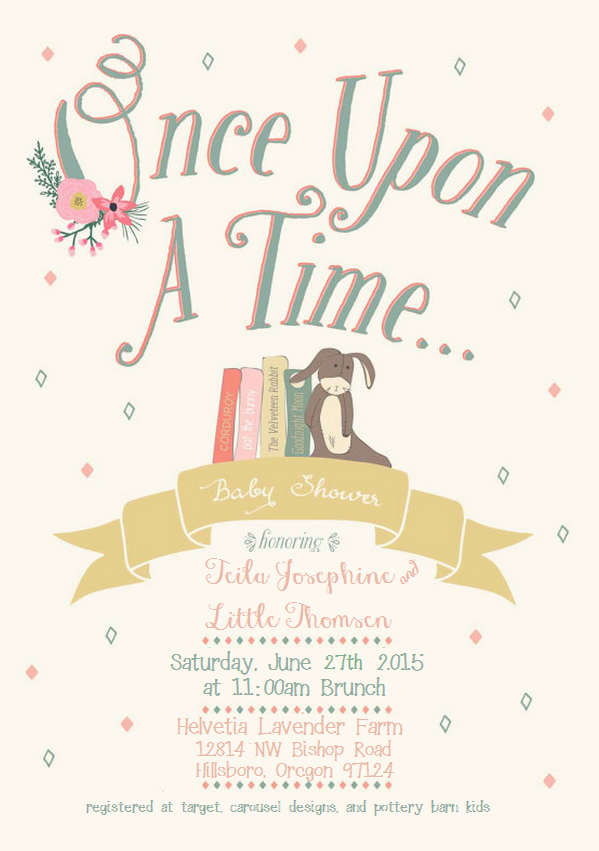 Once Upon A Time Baby Shower Invitation | Fairytale baby-shower ...