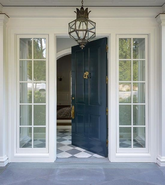 My Favorite Color Inspiration For A Blue Front Door Blue Front Door Cottage House Exterior Front Door Design