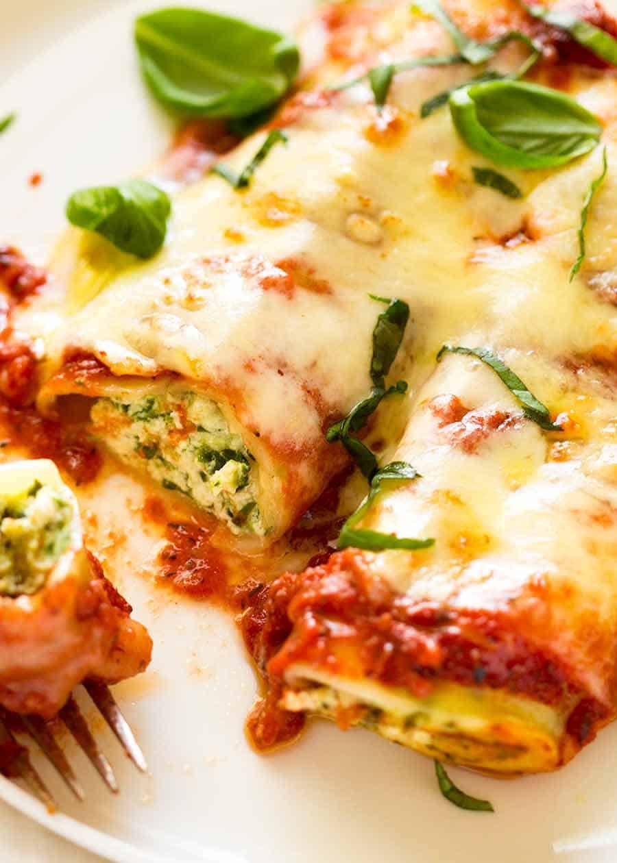 Photo of Spinach and Ricotta Cannelloni