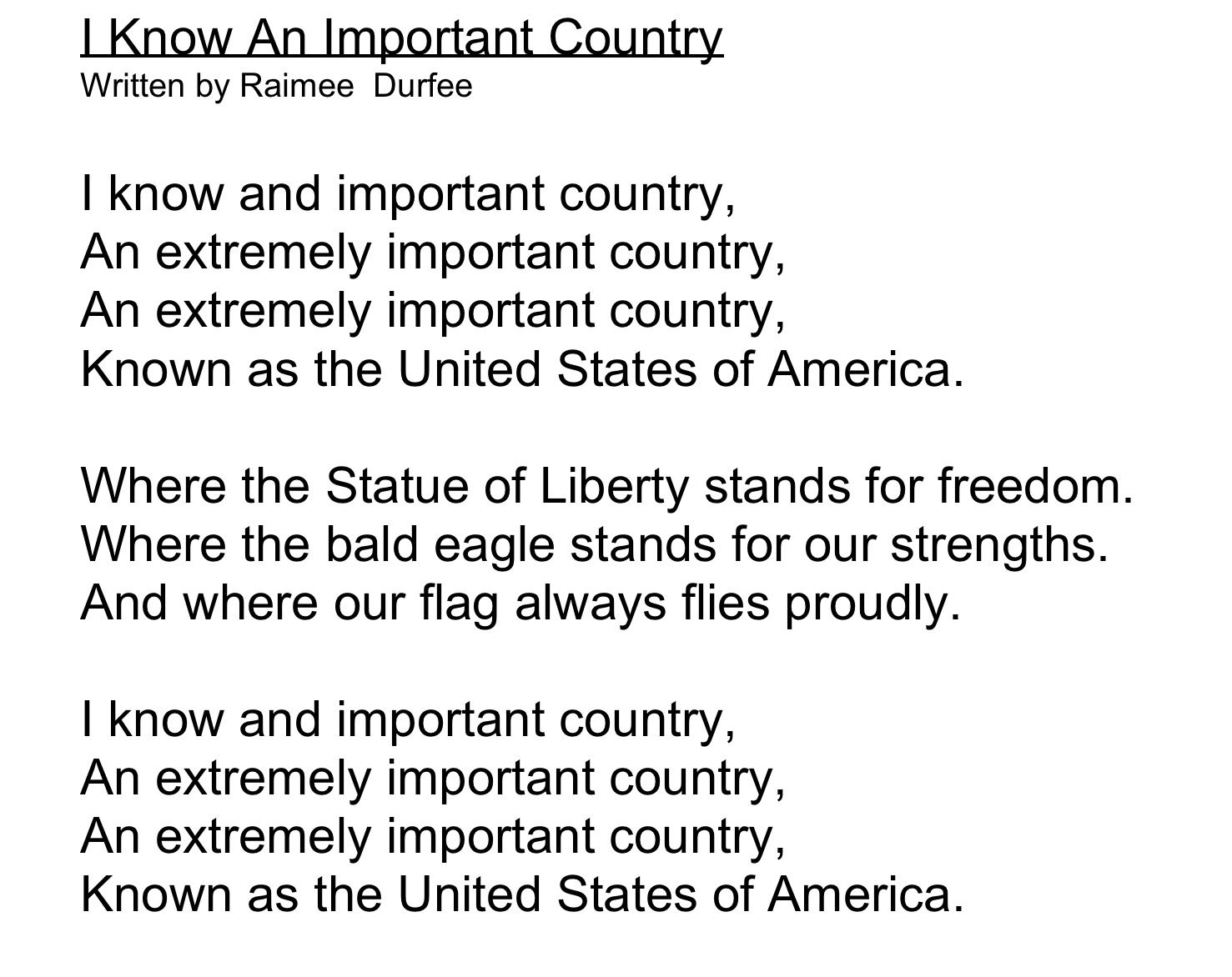American Symbols Citizens Unit Chant