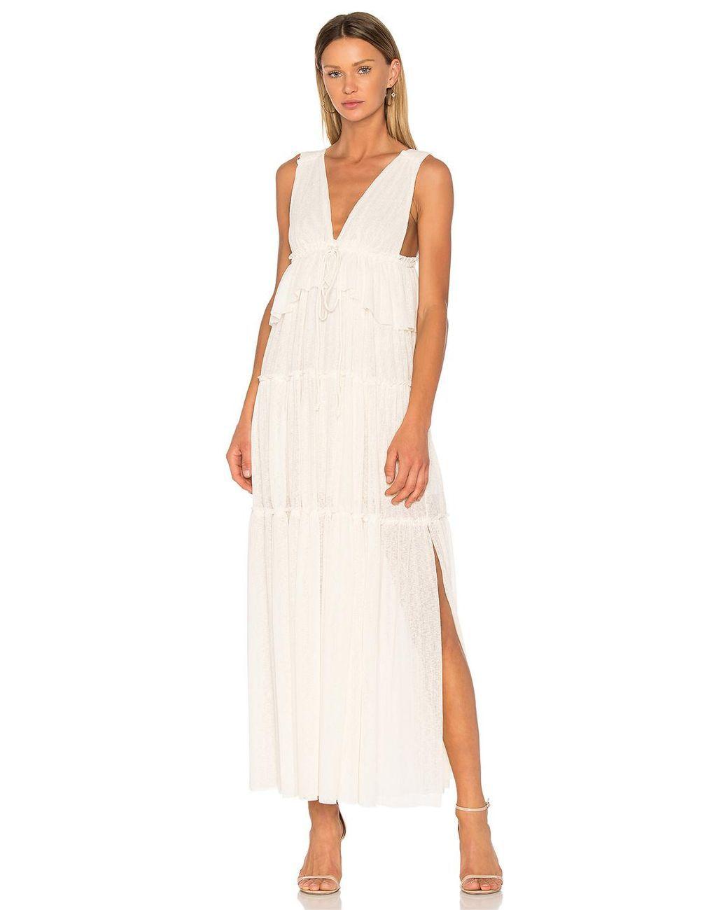 See By Chloe White Maxi Dress Lace Midi Dress Plunge Midi Dress Wedding Dresses Under 500 [ 1300 x 1040 Pixel ]