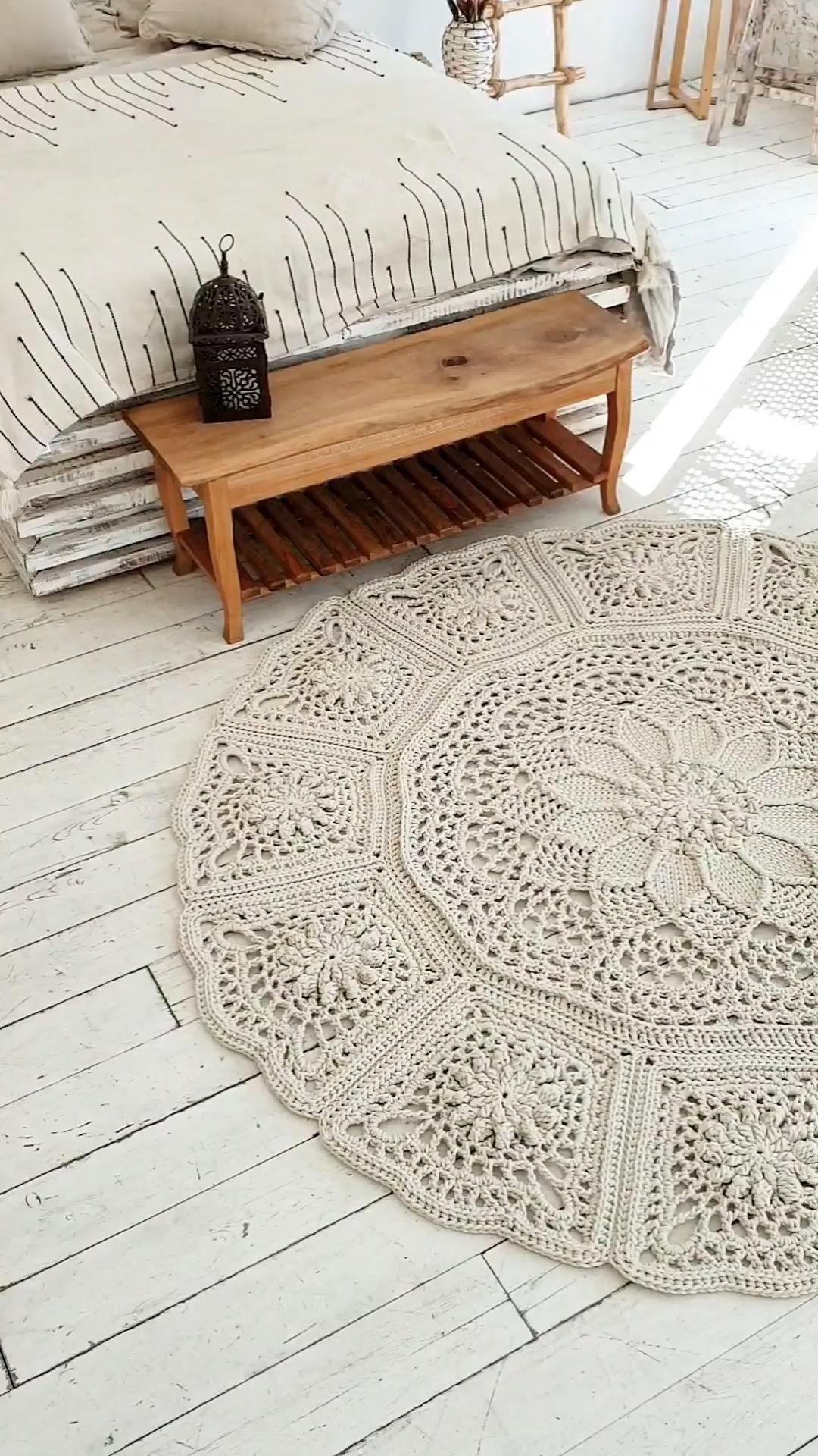 Craft home decor. Crochet rug pattern (video