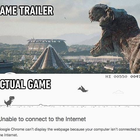 """The """"no internet connection"""" game in chrome is just ..."""
