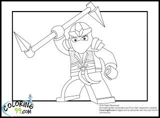 LEGO Ninjago Lloyd The Green Ninja Coloring Pages