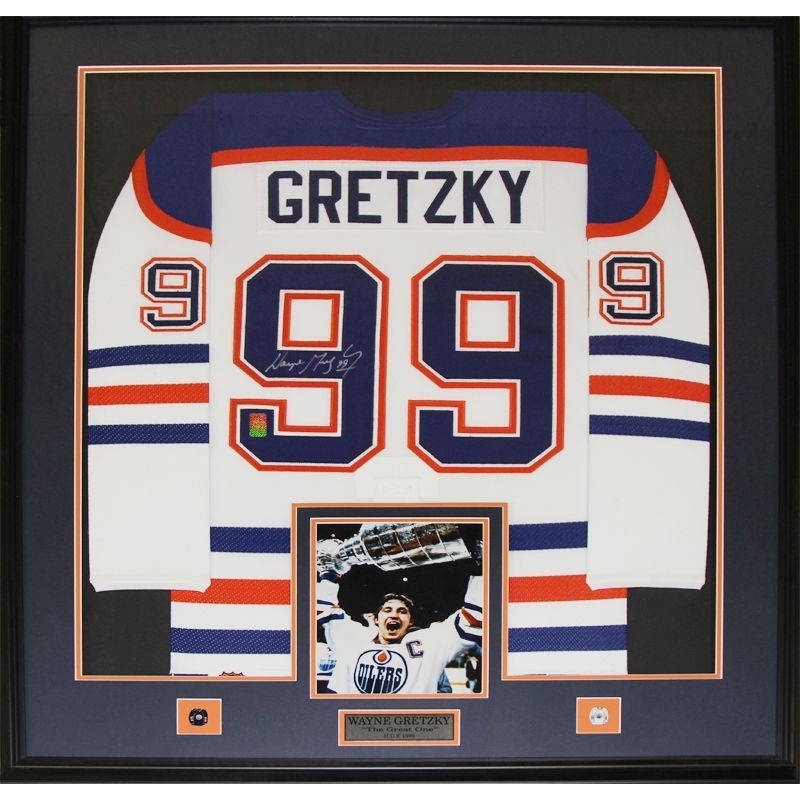 Midway Wayne Gretzky Edmonton Oilers Signed Jersey Frame | Products ...
