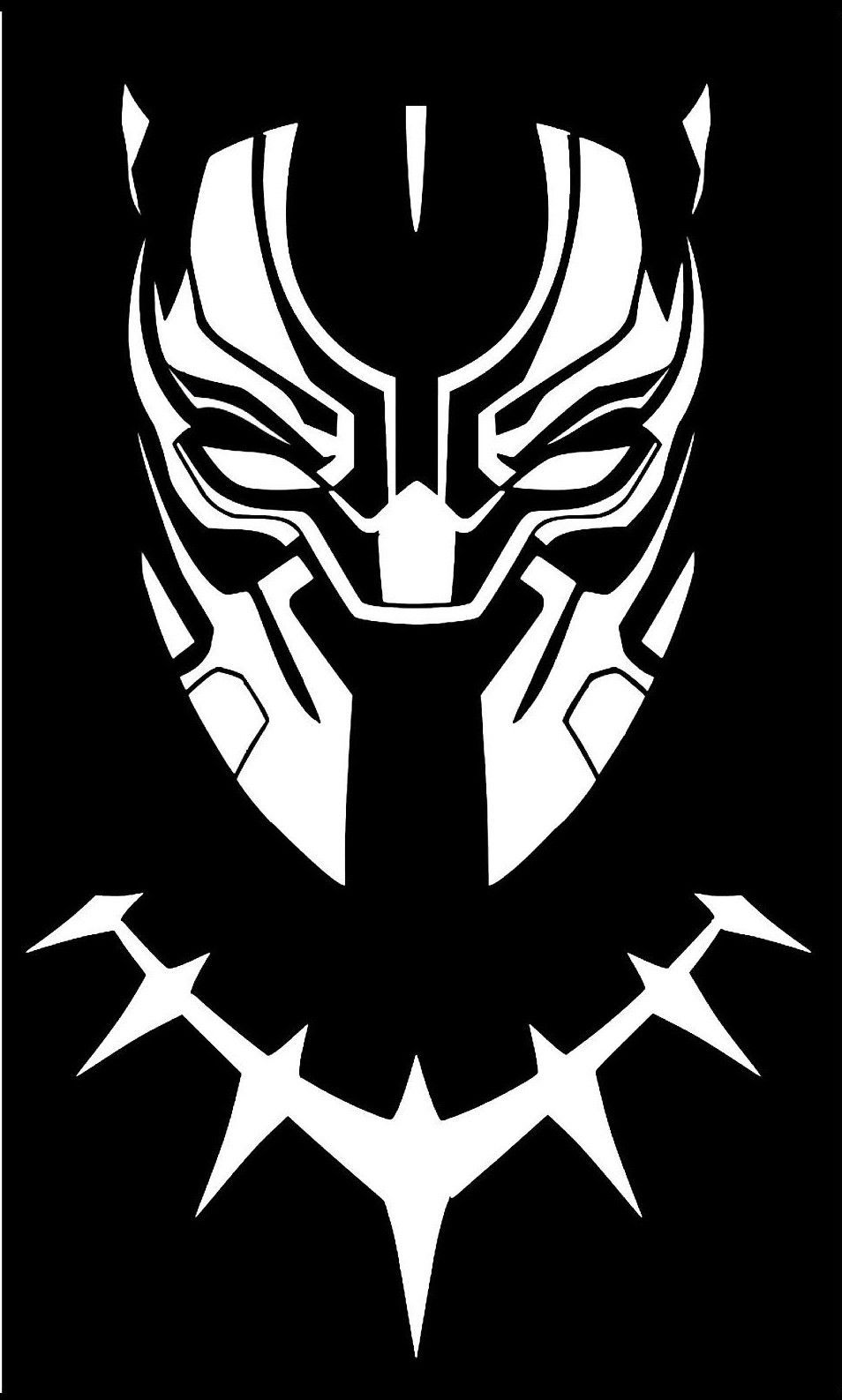 Marvels black panther decal for car laptop and more pick size and color in home