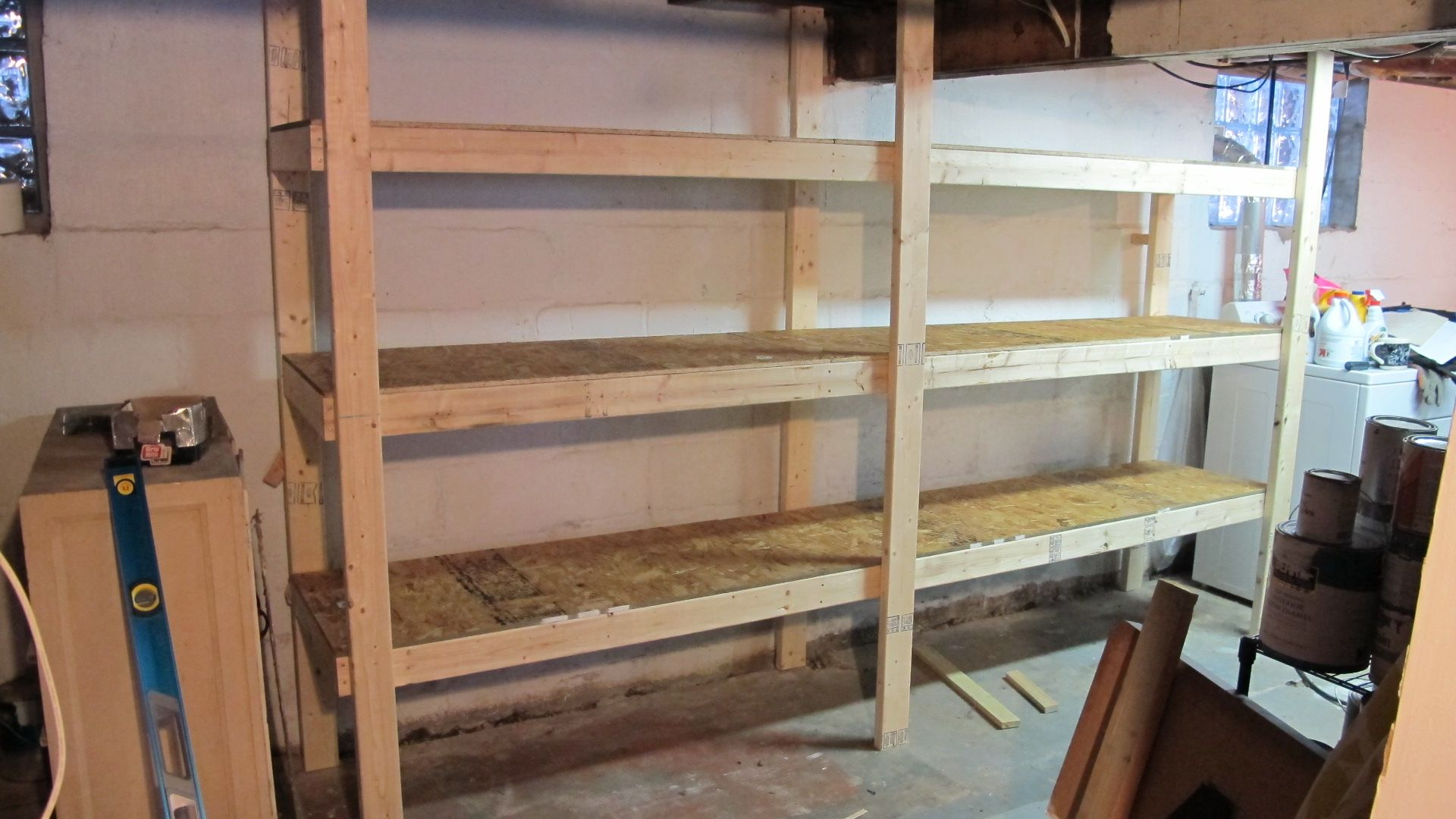 Check Out Our DIY Basement Shelving System Basement