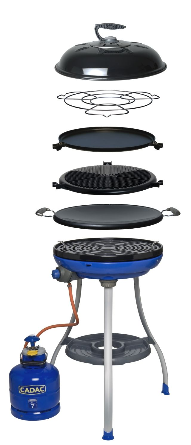 f486806d825242 CADAC BBQ - All-in-one outdoor cooking convenience. Includes five  interchangeable cooking surfaces allowing for a variety of cooking options.