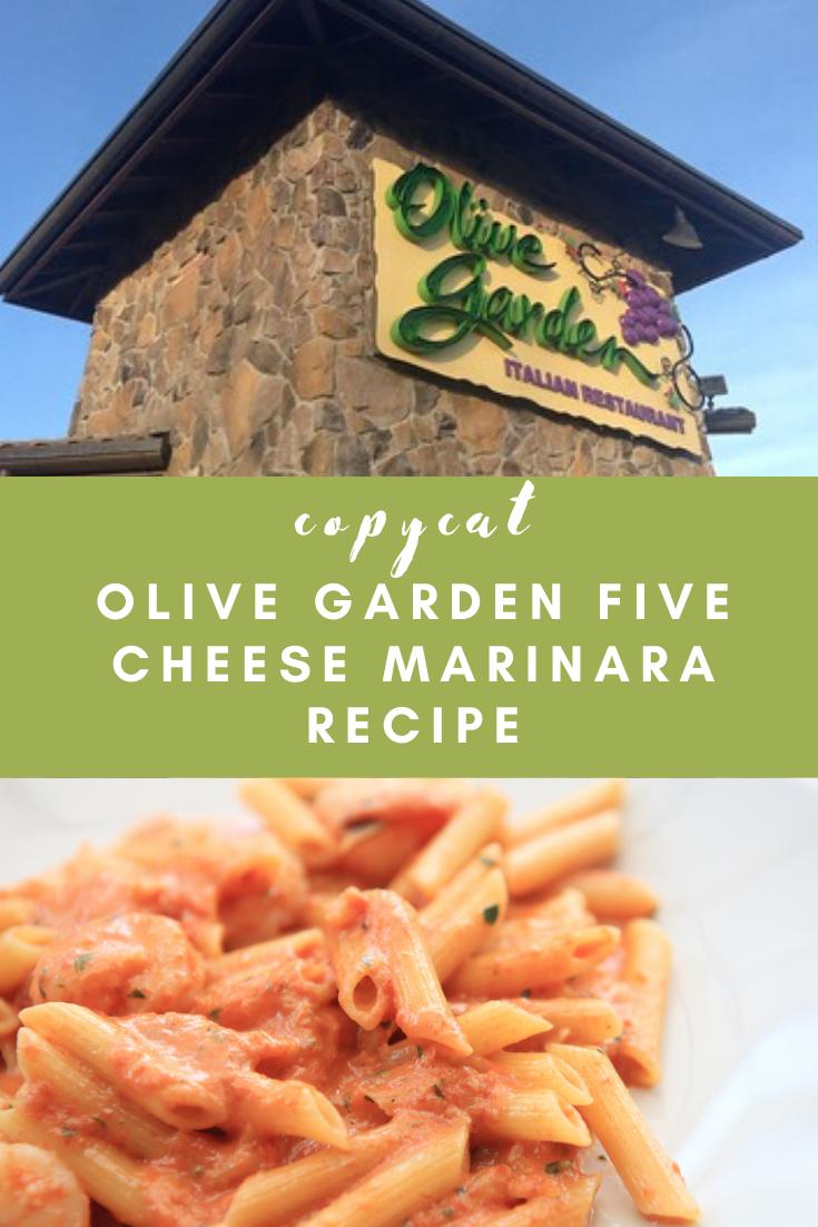 Olive Garden Five Cheese Marinara Recipe Marinara Recipe Fast Food Menu Recipes