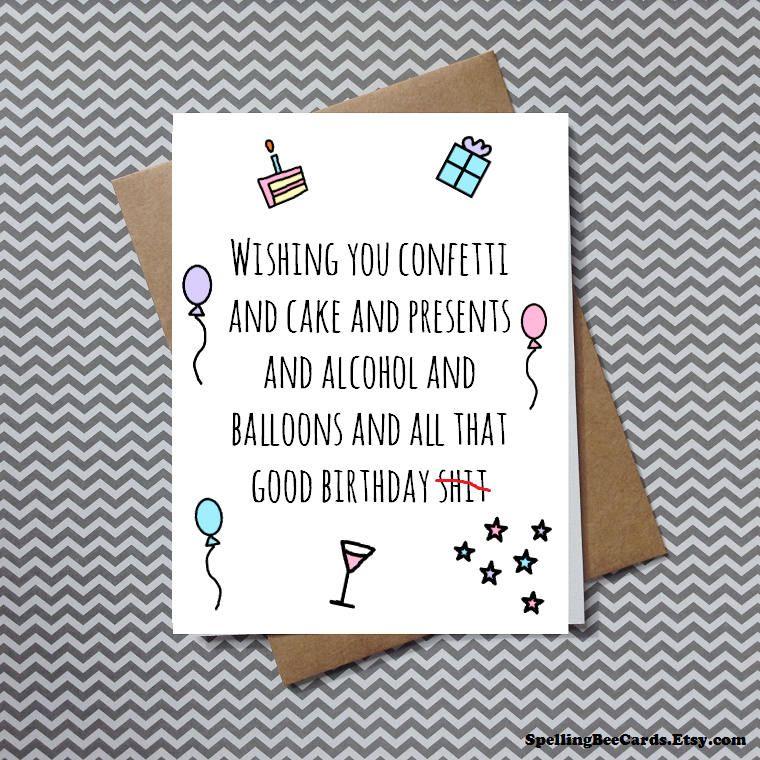 Funny Birthday Card Funny Friend Card Funny Love Card Etsy Birthday Cards Funny Friend Funny Birthday Cards Best Friend Cards