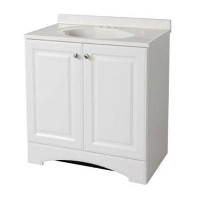 Glacier Bay 3012 Inw Bath Vanity In White With Vanity Top In Magnificent 30 Bathroom Vanity With Top Design Decoration