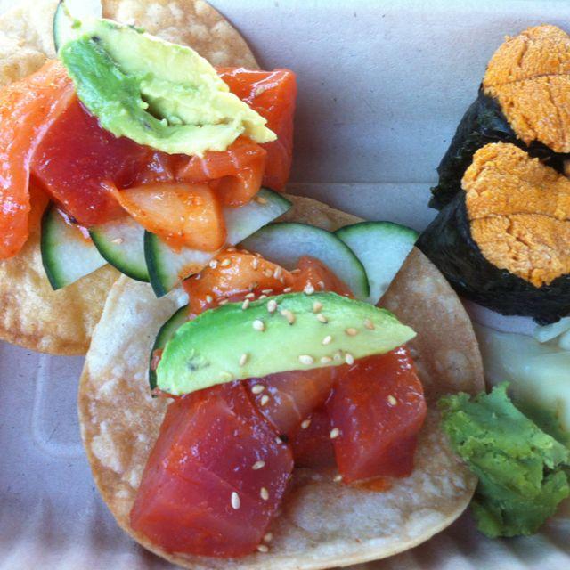 Sushi Tacos from We Sushi Truck | Food, Sushi taco ...