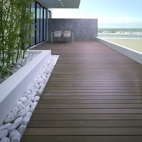 35 dise os de pisos para terrazas terrazas pisos y integral - Pavimento terraza exterior ...
