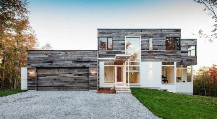 fachadas de casas rusticas modernas de madera - Fachadas Rusticas