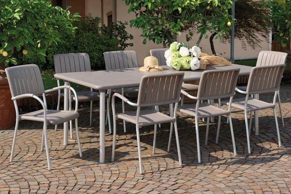 Nardi Maestrale 9 Piece Dining Set Outdoor Settings Patios