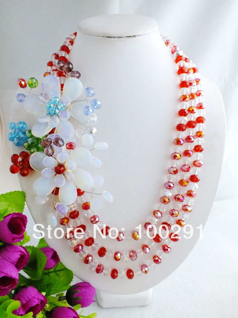 free shipping!!! A-615 Beauty African Crystal Beads Flower ...
