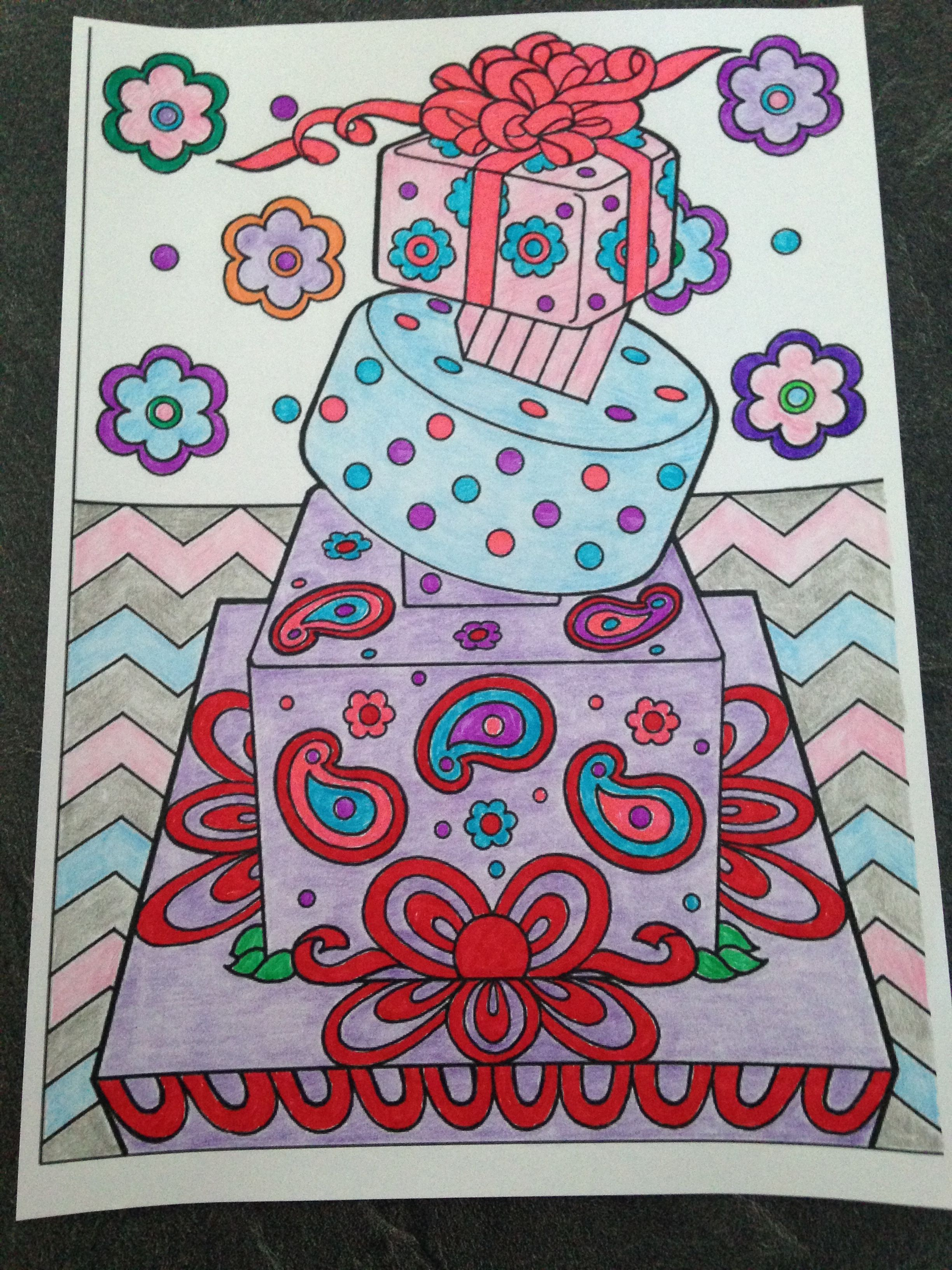 From Creative Haven Designer Desserts Coloring Book, Dover ...
