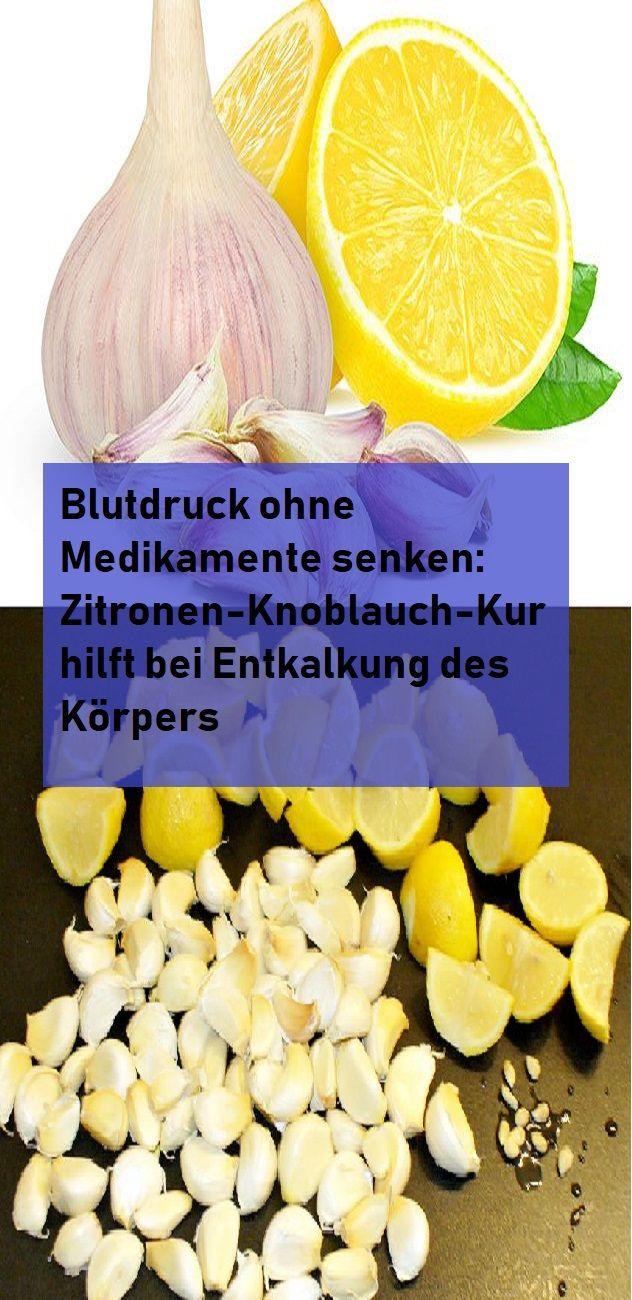 Blutdruck ohne Medikamente senken: Zitronen-Knoblauch-Kur..