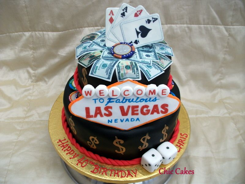Las Vegas Themed Wedding Receptions of birthday cake mens