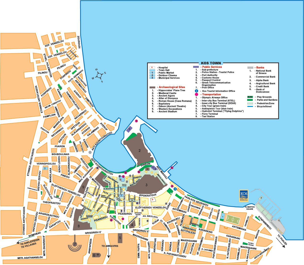 Kos Town map Holiday Pinterest