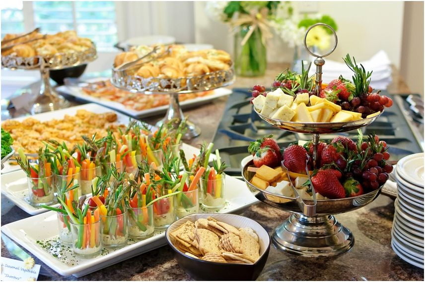 rustic baby shower Roux's Catering is a full service, on