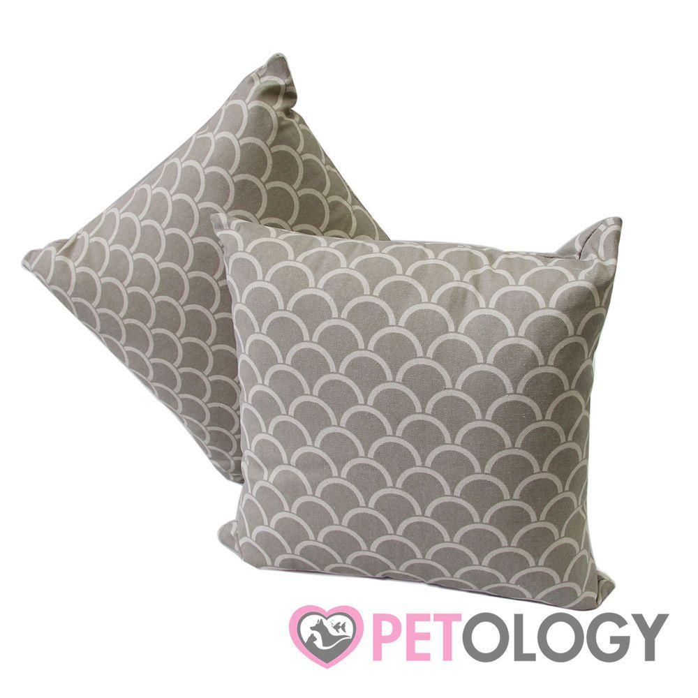 Sea Shell Beige Cushion Pillow Designer Decor Square Couch Bed Cat Dog Pet