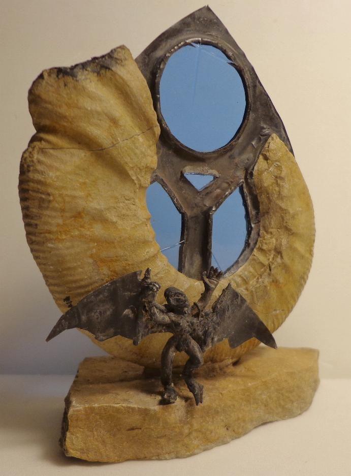 Ammonit Franken Jura Malm Gargoyle Torwächter der gotischen Kathedralen