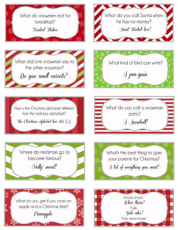 Elf on the Shelf Printable Joke Cards *Updated* christmas treasure