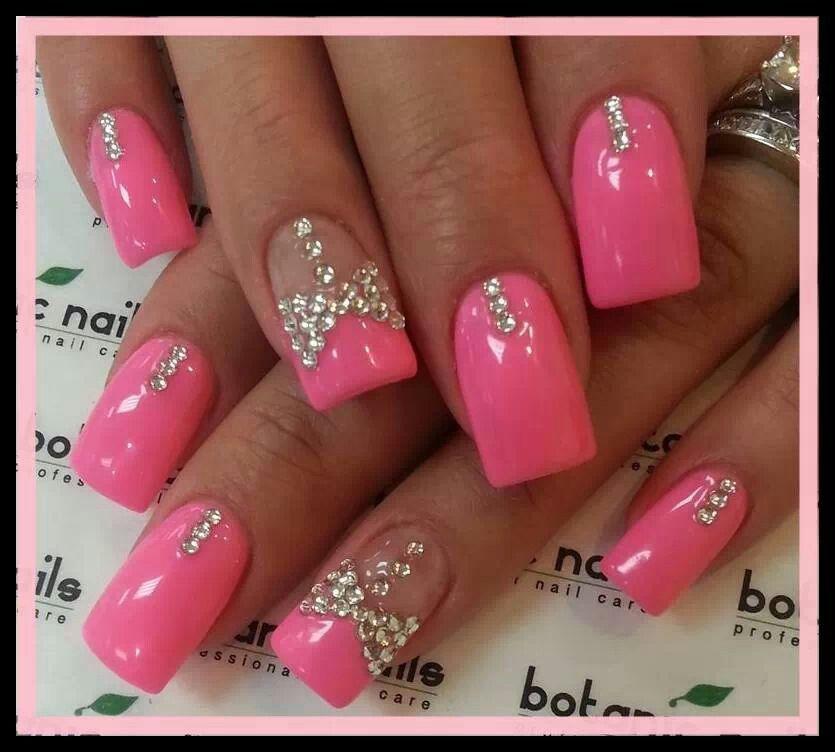 Pink Bling nails   Nails & Beauty   Pinterest   Pink bling nails ...