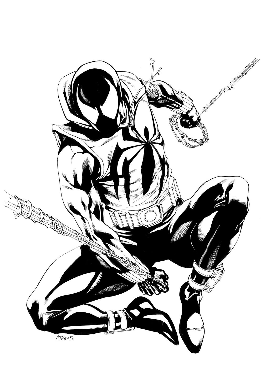 Robert Atkins Art Avengers Scarlet Spiderman Nd Of
