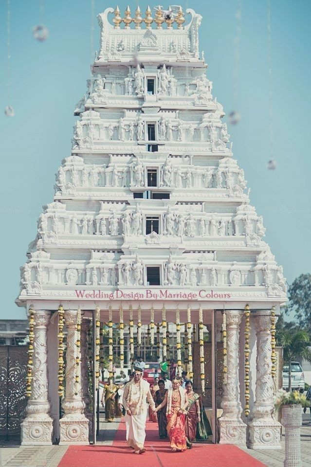 40 Footer Tirupathi Inspired Gopuram By Marriage Colours