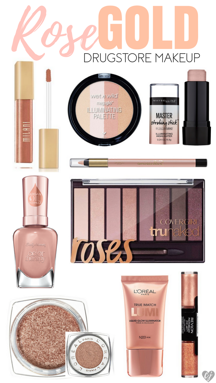 Rose Gold Drugstore Makeup Products – Creativity Jar