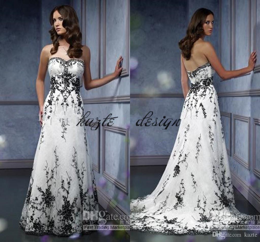 Discount Vintage Gothic Bridal Wedding Gown Plus Size