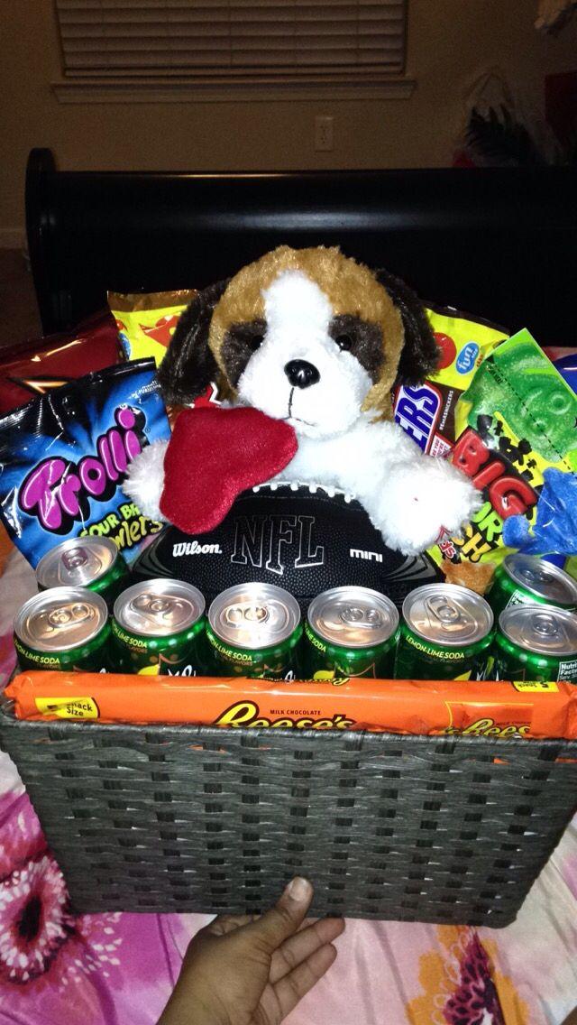 valentine's day gift basket for boyfriend | baskets, bouquets, Ideas