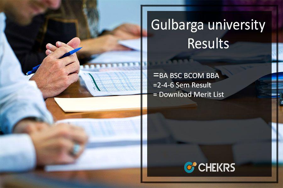 Gulbarga university result 2018 university result