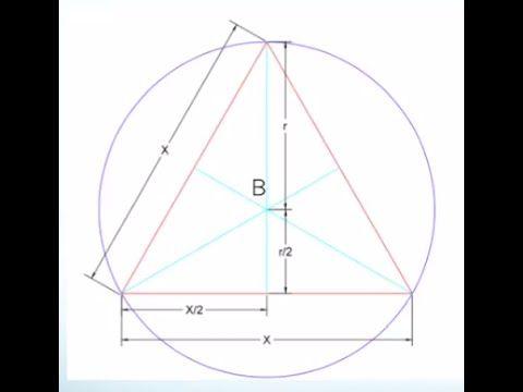 Calculo Del Area De Un Triangulo Equilatero Inscrito En Un Circulo