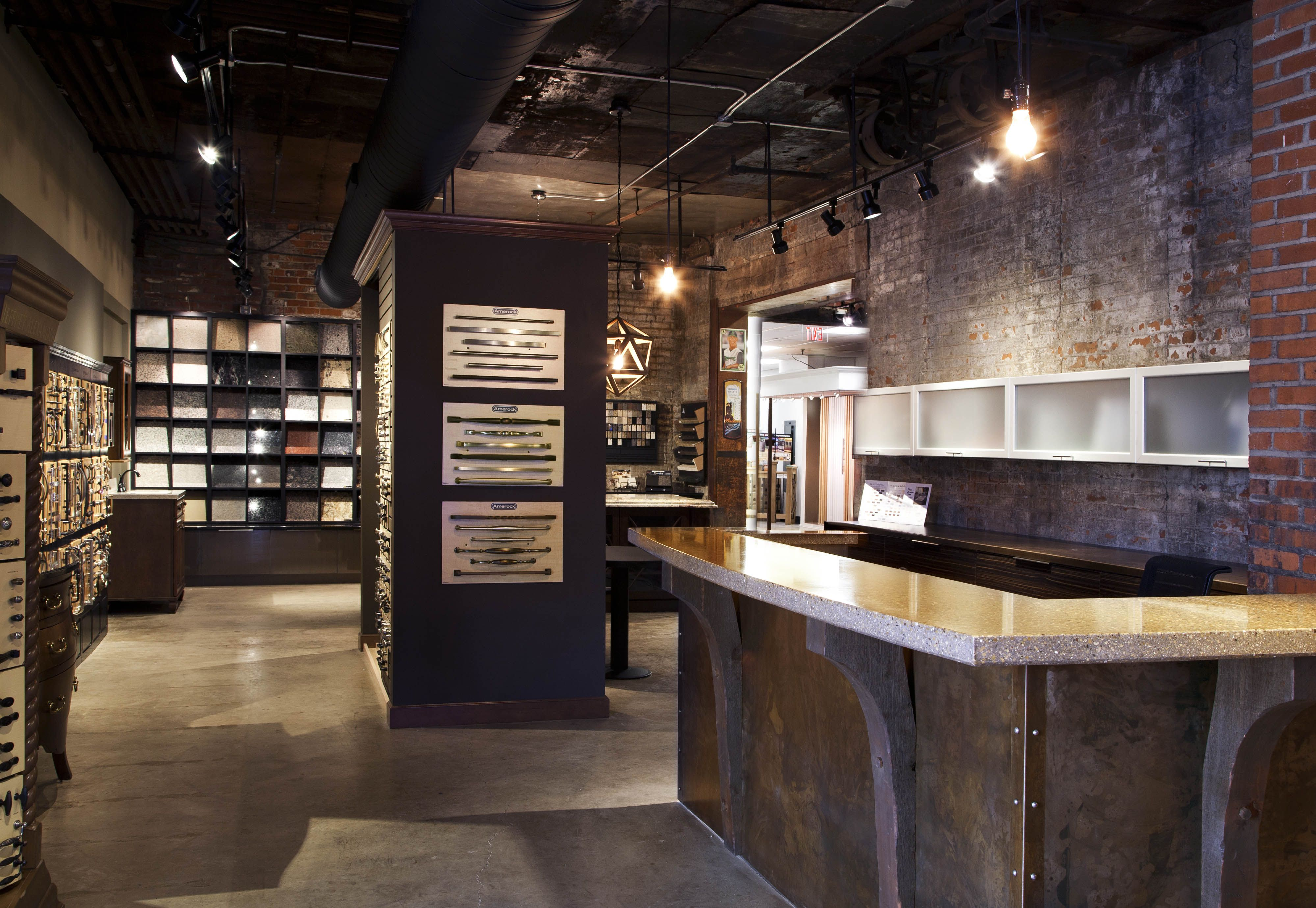 Granite And Quartz Retail Showroom Retail Design Pinterest Showroom Granite And Kitchen