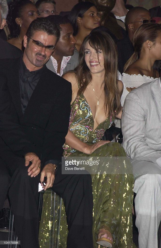 George Michael & Elizabeth Hurley, Versace Couture Collection Fashion Show Held At The Theatre National In The Trocadero In Paris, France.