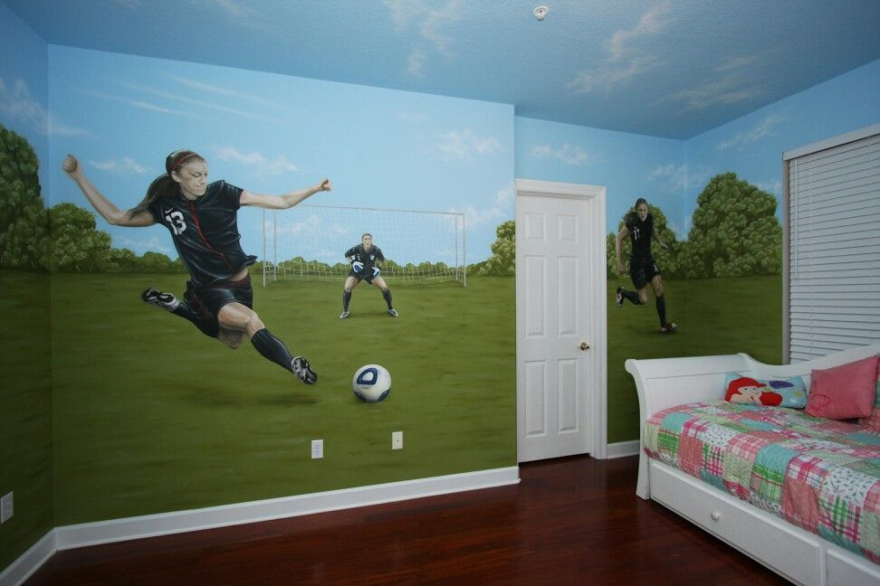 Soccer themed bedroom | Natalie\'s Dream Room | Pinterest ...