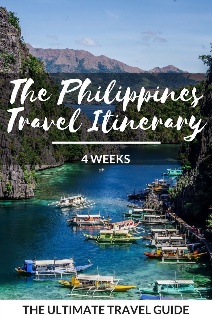 Philippines 4 Week Travel Itinerary Asia Philippines Travel