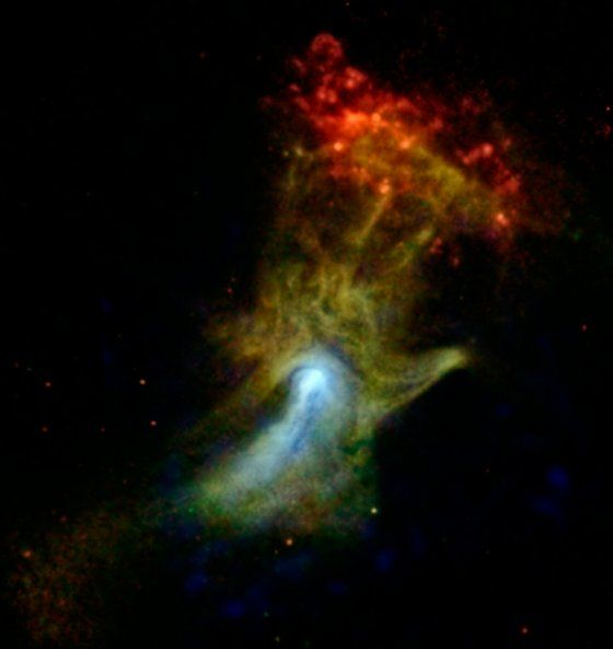 High-Energy X-ray View of 'Hand of God'.