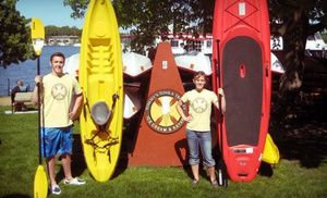 Groupon - Two-Hour Rental of Two Kayaks or Standup-Paddleboards from Tommy's Tonka Trolley (50% Off) in Excelsior. Groupon deal price: $33.50