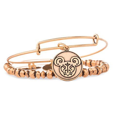 0633364ee Mickey Mouse Filigree Bangle Set by Alex and Ani - Gold | Disney ...