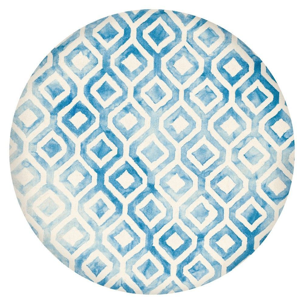 Deon Area Rug - Ivory/Blue (7'x7' Round) - Safavieh