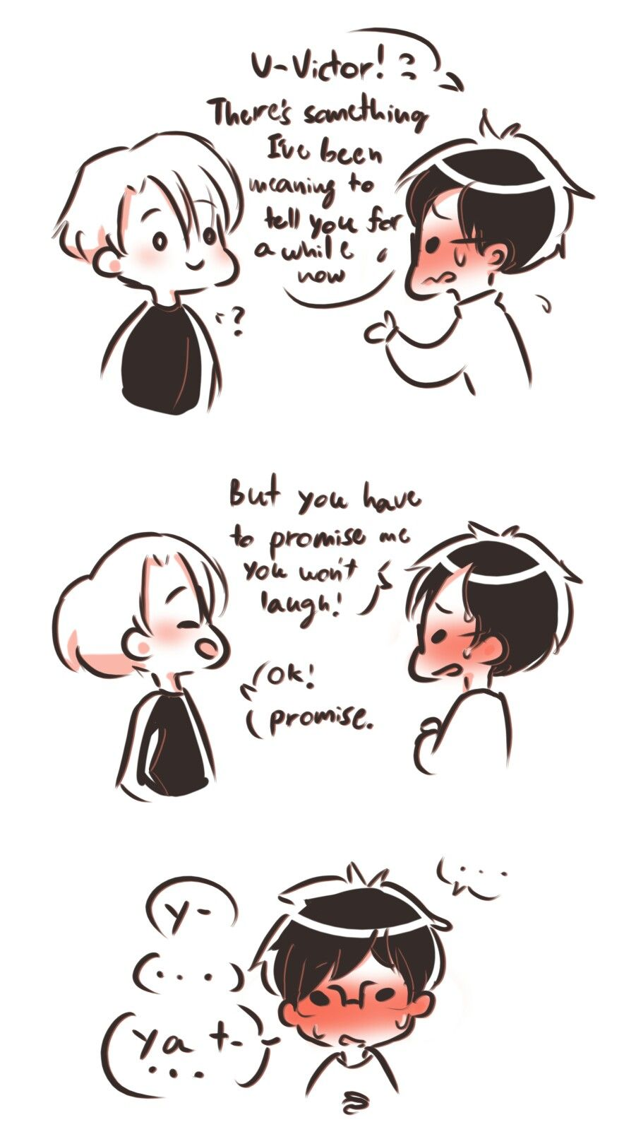 Yuuri Saying I Love You To Victor For The First Time And In Russian 1 Yuri On Ice Comics My Love