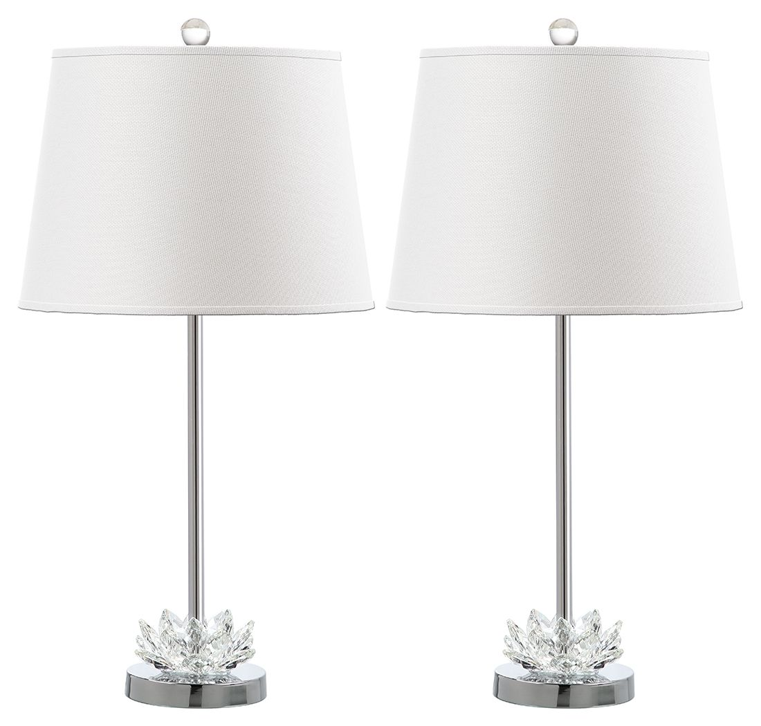 Crystal Base Table Lamp Set Of 2 Transparent Clear Table Lamp Table Lamp Sets Lamp Sets
