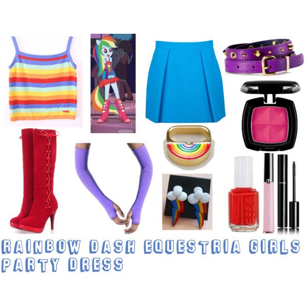 Rainbow Dash Equestria Girls Party Dress Polyvore Bday Equestria Girls Pinterest